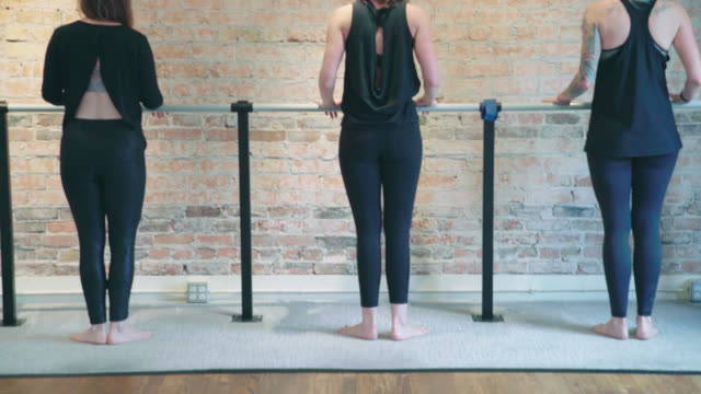 barre calf exercises - barre stock videos & royalty-free footage