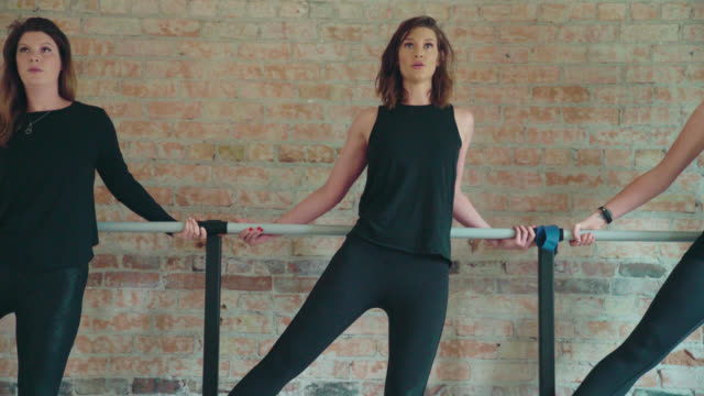 barre leg exercises - barre stock videos and b-roll footage