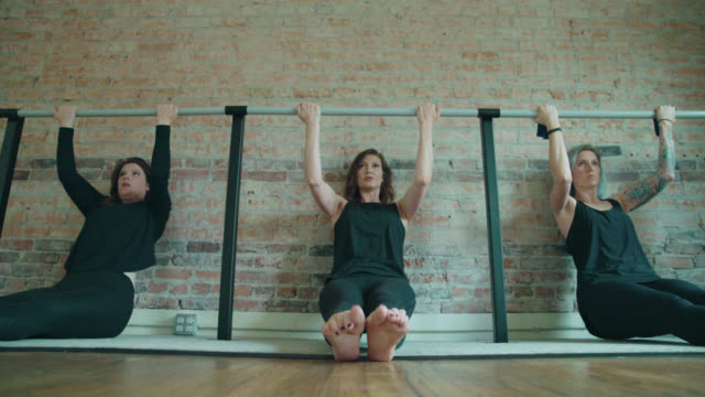 barre pull-ups exercise - barre stock videos and b-roll footage