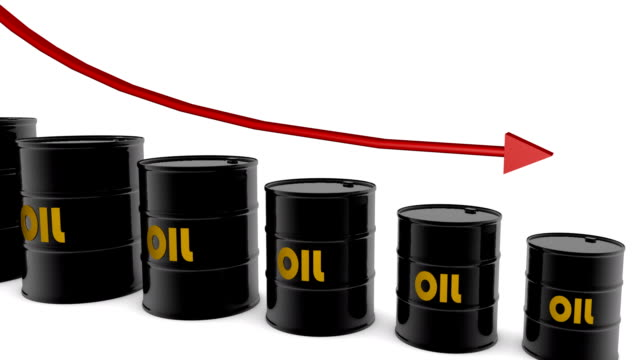 hd: barrels and arrow showing oil price - western script stock videos & royalty-free footage