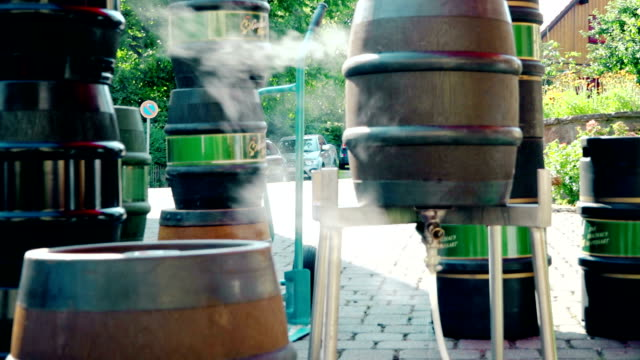 barrels with beer - keg stock videos and b-roll footage
