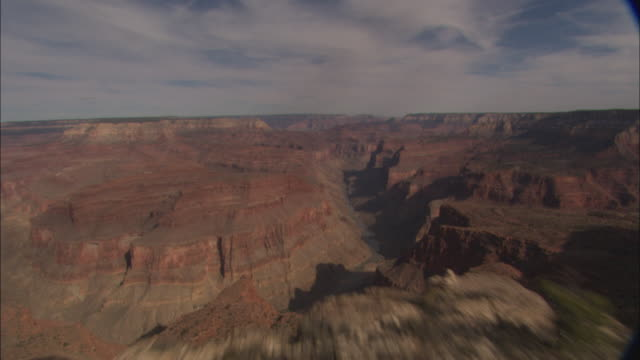 low aerial, barren canyon rocks, grand canyon national park, arizona, usa - mesa stock videos and b-roll footage