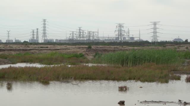 barren land and swamp around village - swamp stock videos & royalty-free footage