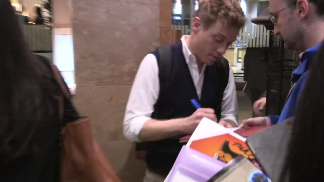 Barrett Foa greets fans at 'A Night At Sardi's' at The Beverly Hilton Hotel in Beverly Hills on March 26 2014 in Los Angeles California