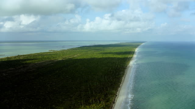 Barrier Island At Biosphere Reserve In Mexico