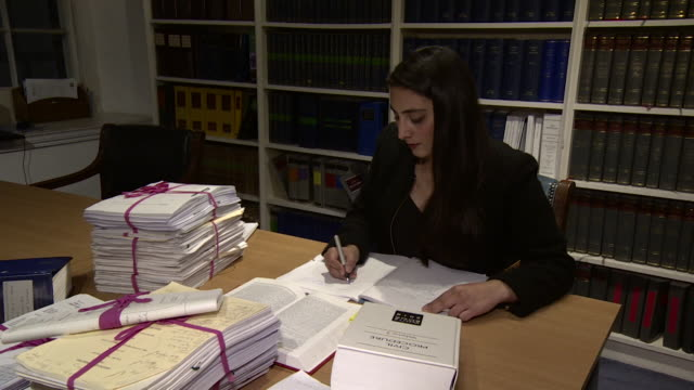 barrister rehana popal set up working at desk - sex discrimination stock videos & royalty-free footage