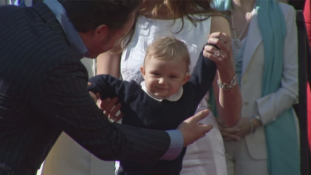 barron trump at 10 months old at the hollywood walk of fame ceremony january 16 2007 where his father receives a star on the hollywood walk of fame... - melania trump stock videos & royalty-free footage