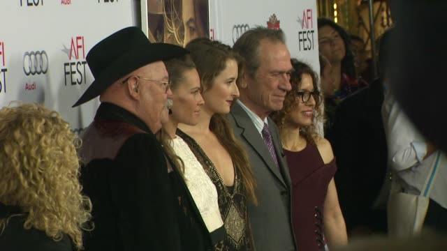 barry corbin hilary swank grace gummer and tommy lee jones at afi fest 2014 presented by audi the homesman premiere at dolby theatre on november 11... - hilary swank video stock e b–roll