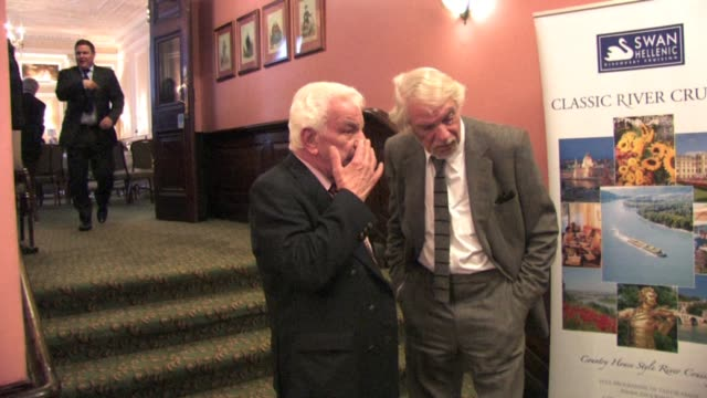 barry cryer and unidentified friend at the celebrity video sightings in london at london england. - barry cryer stock videos & royalty-free footage