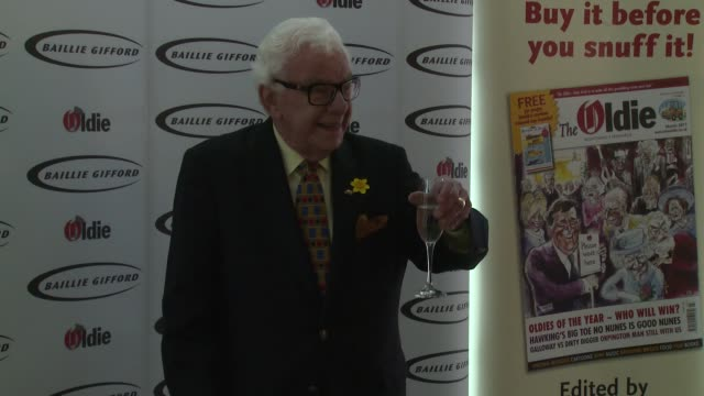 barry cryer at the oldie of the year awards on february 4, 2014 in london, england. - barry cryer stock videos & royalty-free footage