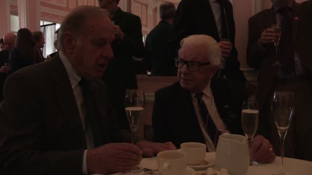 barry cryer; geoffrey palmer - the oldie's at simpsons in the strand on february 12, 2013 in london, england - barry cryer stock videos & royalty-free footage