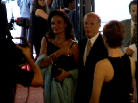 barry diller and diane von furstenberg posing for paparazzi on red carpet - barry diller stock videos & royalty-free footage