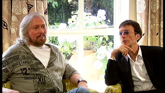 Barry Gibb and Robin Gibb interview SOT