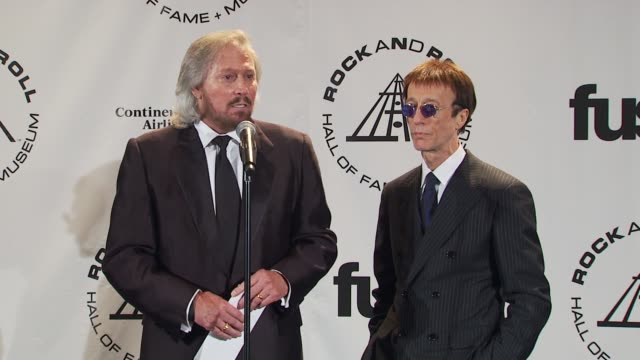 Barry Gibb and Robin Gibb on their box set coming out in November including all four Gibb brothers at the 25th Annual Rock And Roll Hall Of Fame...