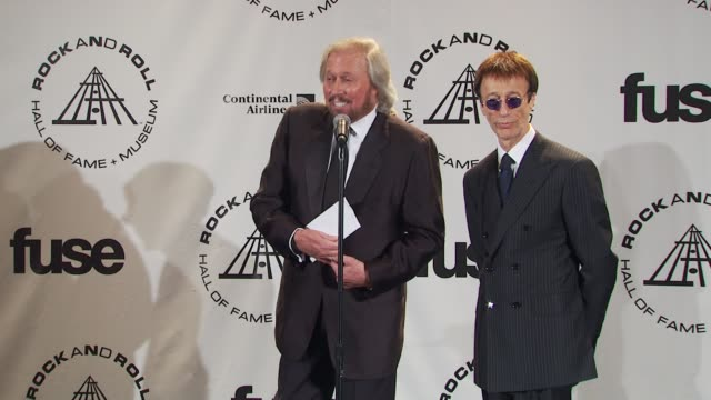 Barry Gibb and Robin Gibb on their competitiveness with the other acts and with each other at the 25th Annual Rock And Roll Hall Of Fame Induction...