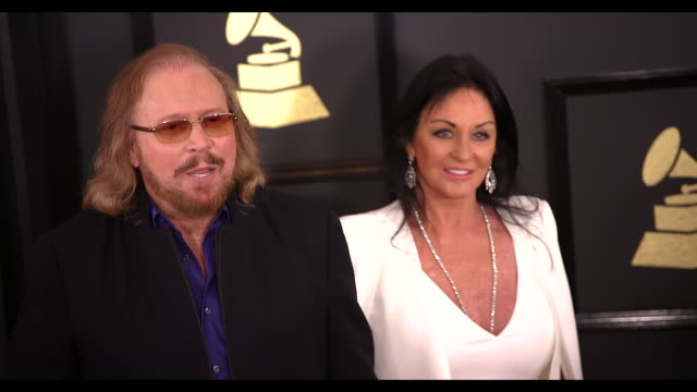 Barry Gibb at 59th Annual Grammy Awards Arrivals at Staples Center on February 12 2017 in Los Angeles California 4K