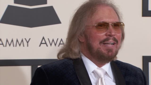 Barry Gibb at the 57th Annual Grammy Awards Red Carpet at Staples Center on February 08 2015 in Los Angeles California