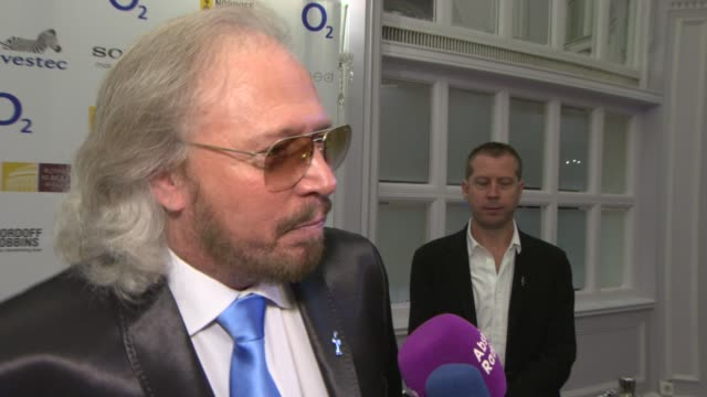 INTERVIEW Barry Gibb on awards and relationship with music INTERVIEW Barry Gibb on awards and relationship at London Hilton on June 28 2013 in London...