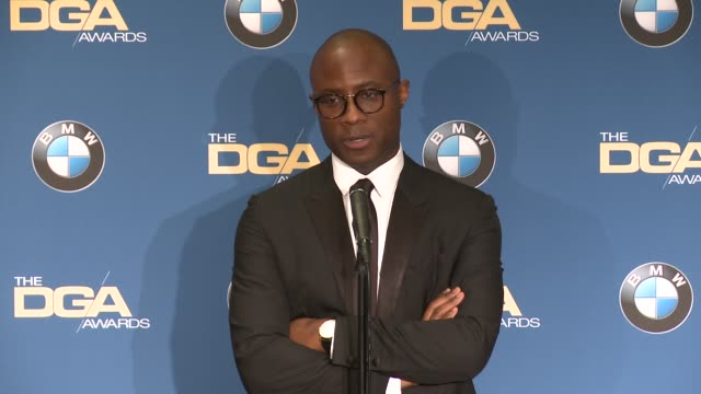 interview barry jenkins at 69th annual directors guild of america awards in los angeles ca - directors guild of america awards stock videos & royalty-free footage