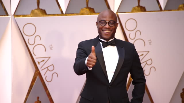 barry jenkins at 89th annual academy awards arrivals at hollywood highland center on february 26 2017 in hollywood california 4k - moonlight stock videos & royalty-free footage