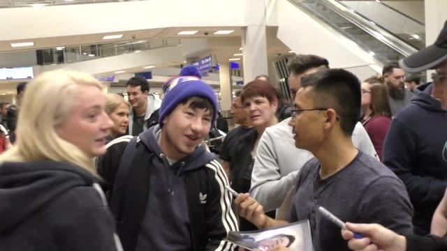 Barry Keoghan arriving to the Sundance Film Festival at Salt Lake City Airport in Utah in Celebrity Sightings in Park City UT