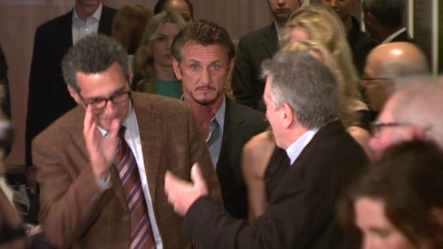 barry levinson john turturro robin wright penn sean penn robert de niro at the premiere of what just happened at new york ny - robin wright stock videos & royalty-free footage