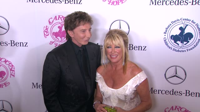 barry manilow and suzanne somers at the 2014 carousel of hope ball at the beverly hilton hotel on october 11 2014 in beverly hills california - suzanne somers stock videos & royalty-free footage