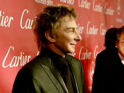 barry manilow at the 2008 palm springs international film festival hosts star-studded awards gala presented by cartier red carpet arrivals at palm... - barry manilow stock videos & royalty-free footage