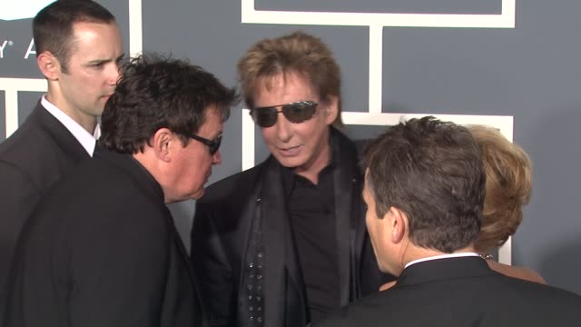 barry manilow at the 53rd grammy awards - arrivals part 2 at los angeles ca. - barry manilow stock videos & royalty-free footage