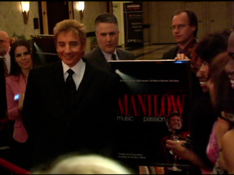 barry manilow at the 'barry manilow: music and passion' opening night at the las vegas hilton hotel in las vegas, nevada on february 24, 2005. - barry manilow stock videos & royalty-free footage