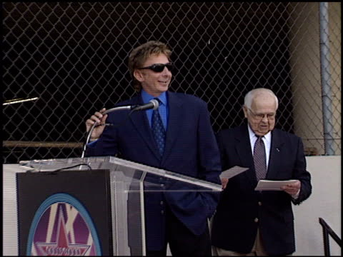 barry manilow at the dediction of suzanne somers' walk of fame star at the hollywood walk of fame in hollywood, california on january 24, 2003. - barry manilow stock videos & royalty-free footage