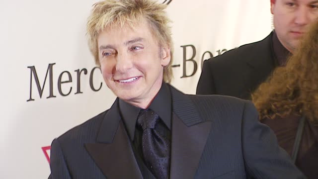 barry manilow at the mercedes-benz presents the 17th carousel of hope ball at the beverly hilton in beverly hills, california on october 29, 2006. - barry manilow stock videos & royalty-free footage