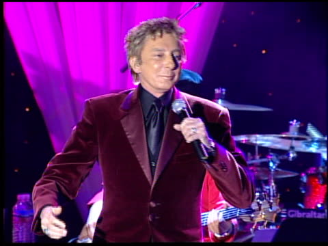 barry manilow performs at the clive davis' pregrammy awards party concert at the beverly hilton in beverly hills california on february 7 2006 - pre party stock videos and b-roll footage