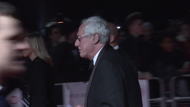 barry norman walking along carpet at 32nd london critics' circle film awards 2012 red carpet arrivals at bfi southbank on january 19 2012 in london... - barry norman stock videos & royalty-free footage