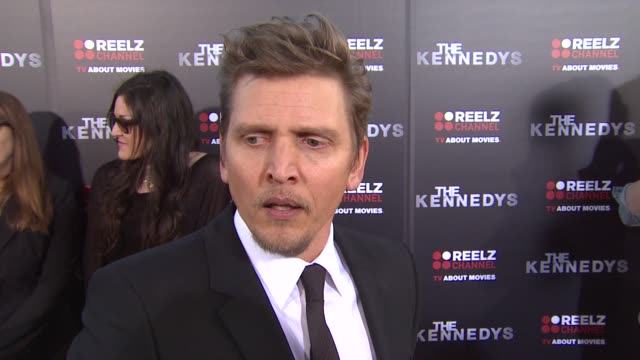vídeos y material grabado en eventos de stock de barry pepper on why its important that this series found a home on reelz channel if he understands why there was so much controversy surrounding the... - rodear