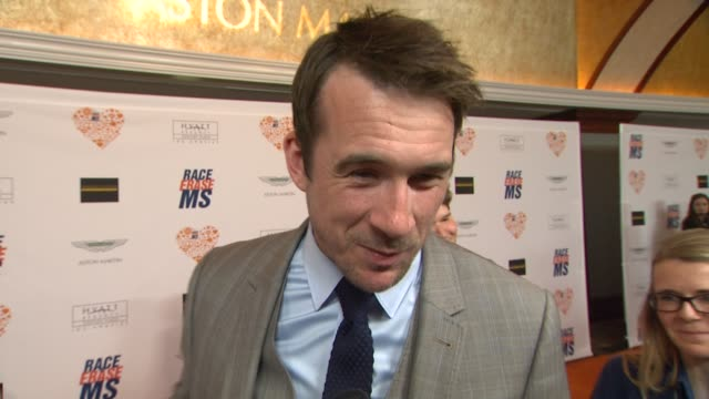 barry sloane on being a part of the night, what he's most looking forward to at the 21st annual race to erase in los angeles, ca 5/2/14 - レーストゥイレースms点の映像素材/bロール