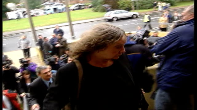 Barrymore party drowning inquest ENGLAND Epping EXT Family of Stuart Lubbock arriving for opening of inquest into his death Michael Mansfield towards...