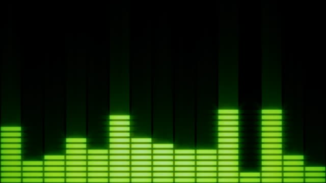 eq bars with alpha channel green - 1929 stock videos & royalty-free footage