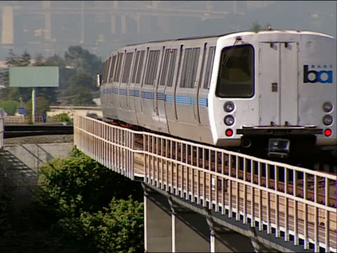 ms, pan bart train passing, san francisco, california, usa - oakland california stock videos & royalty-free footage