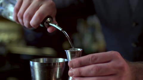 bartender making a fancy margarita - pouring stock videos & royalty-free footage