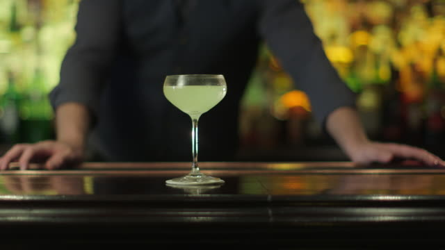 Bartender Making a fancy Margarita