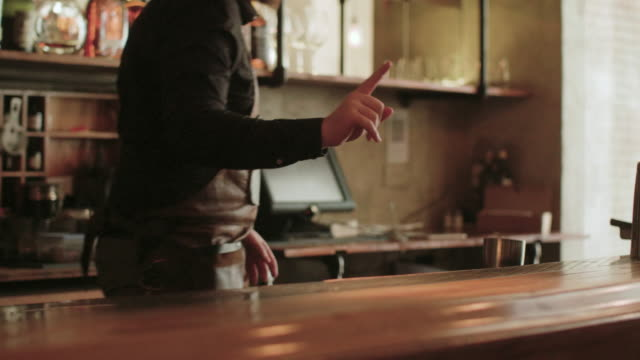 bartender making drinks - bartender stock videos & royalty-free footage