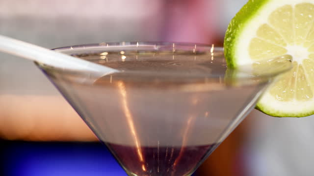 bartender pour shot of alcohol into cocktail - nightlife stock videos & royalty-free footage