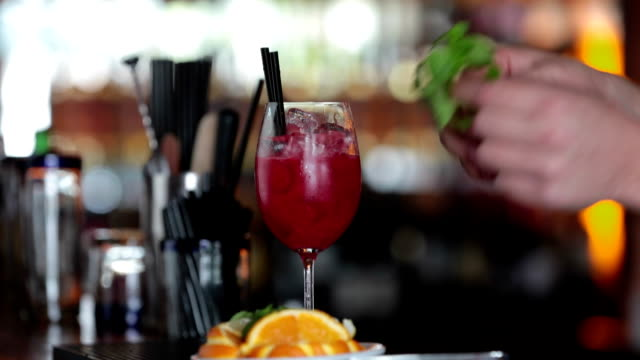 bartender preparing cocktail - tropical cocktail stock videos & royalty-free footage