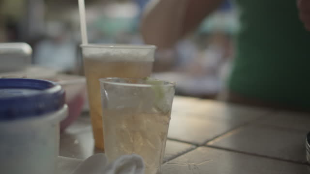 bartender putting straws in drinks - straw stock videos & royalty-free footage