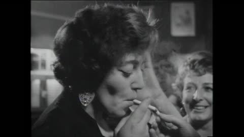 bartender serves drinks as people socialise, mandrake club; 1959 - 1959 stock videos & royalty-free footage