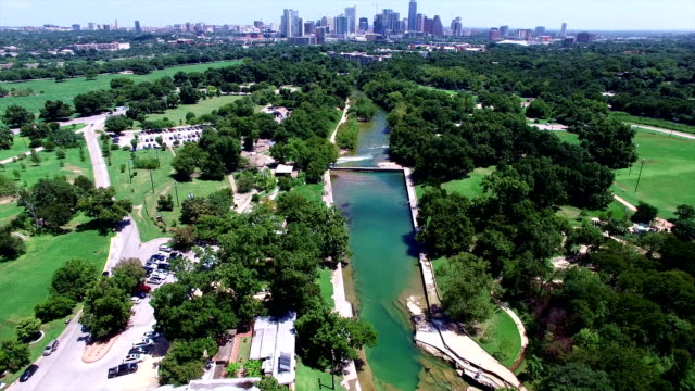 Barton Springs Pool a Natural Cold Spring Relaxing Swimming Pool of Austin Texas