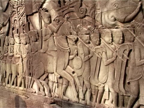 bas relief at angkor wat - bas relief stock videos & royalty-free footage