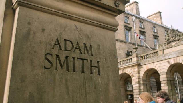 cu base of adam smith statue in edinburgh - old town stock videos & royalty-free footage
