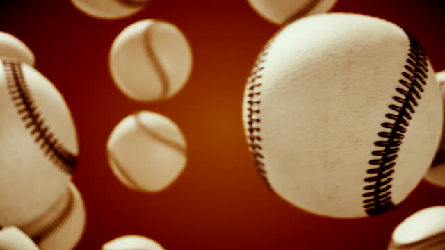 baseball ball rotating and transition with luma matte alpha channel - seamless loop - stock video - multicolore video stock e b–roll